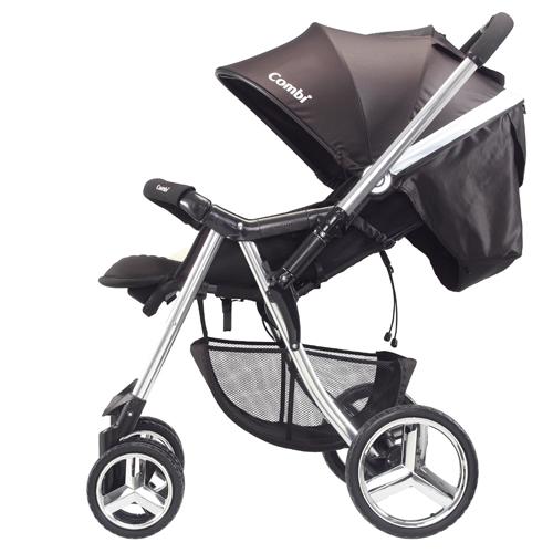 Компания COMBI - детская коляска «Mega Ride Deluxe» черная  (c накидкой на ножки)(166003)
